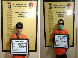 Dua Pelaku Spesialis Kejahatan Jalanan dan Curat Ditangkap Polsek Bukit Raya