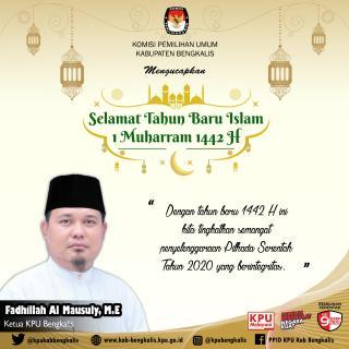 Tahun Baru Islam 1442 H, KPU Bengkalis Ajak Wujudkan Sejuta Impian dan Keimanan Kepada Allah SWT