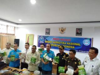 10 kg sabu dan 60,000 ekstasi Berhasil Disikat BNNP Riau