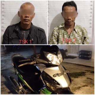 Apes.. Lagi Mau Jual Motor Curian, Ehhh Ketangkap Polisi Polsek Mandau