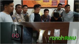 Polsek Perhentian Raja Ringkus Dua Pelaku Narkoba di Desa Pantai Raja