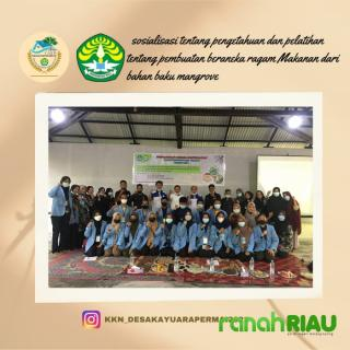 Mahasiswa KKN Balek kampung Unri manfaatkan mangrove jadi makanan