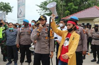 Aksi Penolakan RUU Cipta Kerja di Kabupaten Inhil Berjalan Damai