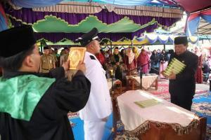 PAW Kades Pasir Jaya Resmi Dilantik Bupati Rohul