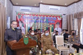 Ketua DPRD Inhil Ikuti Deklarasi Damai Pilkades Serentak 2021