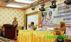 Wabup Kepulauan Meranti buka Sosialisasi Permendagri No.33 2019