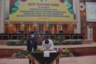 Paripurna DPRD Riau, Hardianto : Kali Ini Postur Anggaran Covid Melekat di APBD Riau