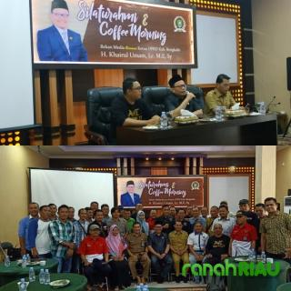 Ketua DPRD Bengkalis Gelar Coffe Morning Dan Silaturahmi bersama Insan Pers