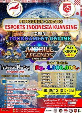 PENGCAB Esports Indonesia Kabupaten Kuansing Gelar Turnamen Mobil Legend