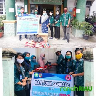 KKN Mahasiswa Unri, salurkan sembako di Kampung tengah