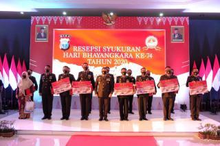 Terima Penghargaan, Kapolda Riau Berikan Kepada Polisi Berprestasi dan Polisi Teladan