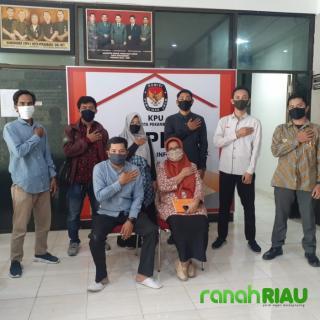 Silaturahmi Lp2D dengan KPU Kota Pekanbaru