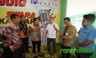 Bupati Kampar Dialog Interaktif Bersama KPID Riau di Radio Swara Kampar.
