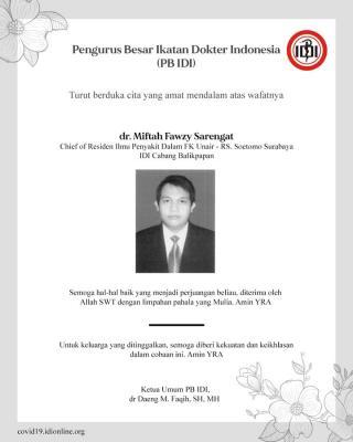 Indonesia kembali berduka, dr Miftah meninggal ketika bertugas