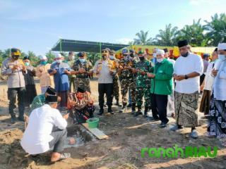 Pembangunan Ponpes Hamalatul Quran di desa Bukit Payung Bangkinang