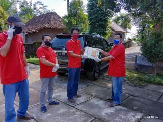 Ketua DPRD Sleman Serahkan 6 APD ke Gugus Tugas Desa Banyurejo