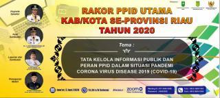 Komisi Informasi dan Diskominfo Inhil Gelar Rakor PPID Utama se Riau Secara Virtual