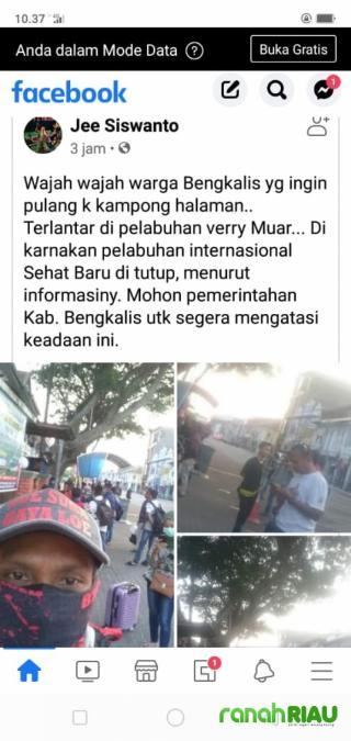 Malaysia Lockdown, Warga Bengkalis Gagal Pulang Melalui Pelabuhan BSSR