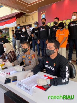 Polres Bengkalis Ringkus Pelaku Pembunuhan Sadis Anak Dibawah Umur