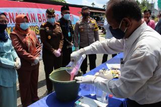 Polres Inhil Hancurkan Ribuan Gram Shabu dan Puluhan Butir Pil Ekstasi