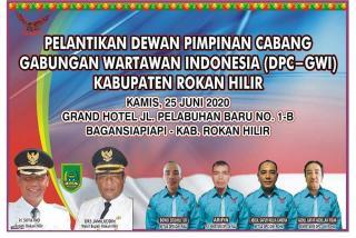 DPC-GWI Rohil Periode 2020-2023 Secara Resmi Dilantik oleh Ketua DPD GWI Riau
