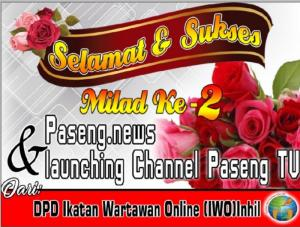 Launching Paseng TV dan Media Online, IWO Inhil Berikan Selamat