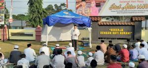 Sholat Ied Di Mapolres Kampar, Khatib Panjatkan Doa Minta Hujan